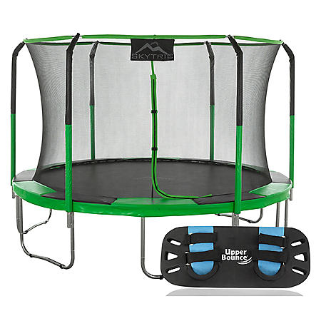 Skytric 11' Round Trampoline with Trampoline Jumping Skate