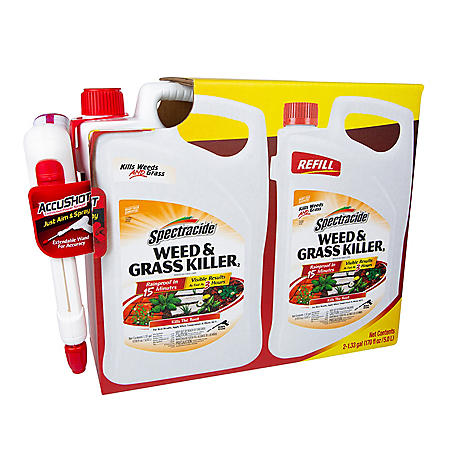 Spectracide Weed & Grass Killer, AccuShot Sprayer + Refill, 1.33-gal
