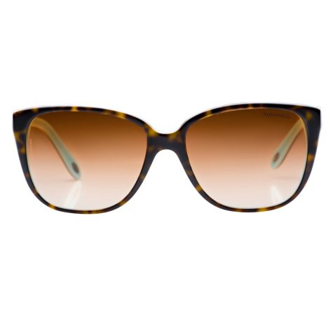 Tiffany Cobblestone Rectangular Sunglasses, Tortoise/Tiffany Blue