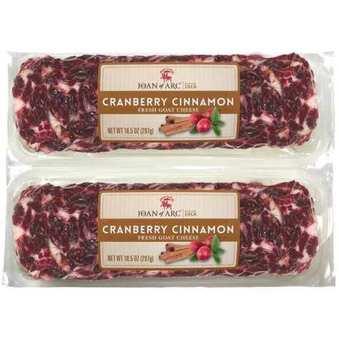 Joan Of Arc Cranberry Cinnamon Goat Cheese (10.5 oz ea., 2 pk.)