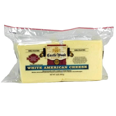 Castlewood White American Cheese Slices (32 oz.)