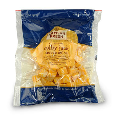 Artisan Fresh Colby Jack Cheese Cubes - 2 lbs.