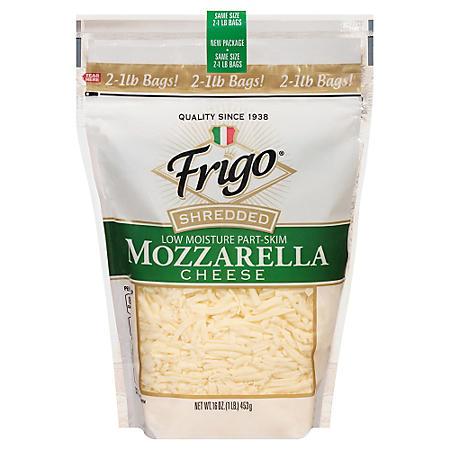 Frigo Shredded Mozzarella Cheese (1 lb. ea., 2 pk.)