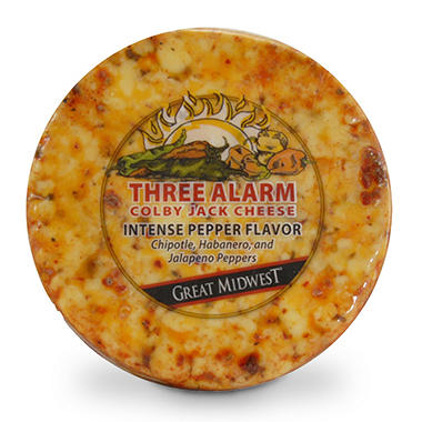 Three Alarm Colby Jack Cheese - 1.5 lbs.