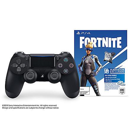DualShock 4 Wireless Controller w/ Fortnite (PlayStation 4)