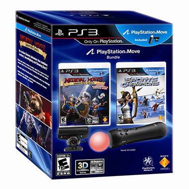 PS3 Move Bundle with Sports Champions and Deadmund's Quest