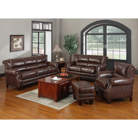 Dwight Top Grain Leather Collection - 4 pc.