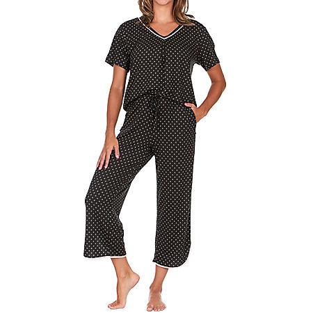 Flora Short Sleeve & Capri Pant 2-Piece PJ Set