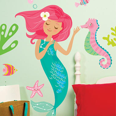 Wallies Mermaid Decal