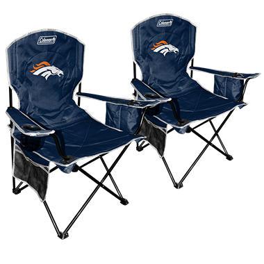 NFL Denver Broncos Cooler Quad Chair 2 Pack