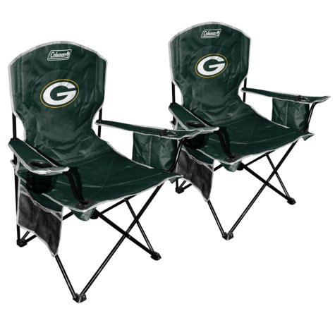 NFL Green Bay Packers Cooler Quad Chair 2-Pack