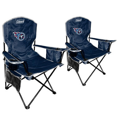 NFL Tennessee Titans Cooler Quad Chair 2 Pack