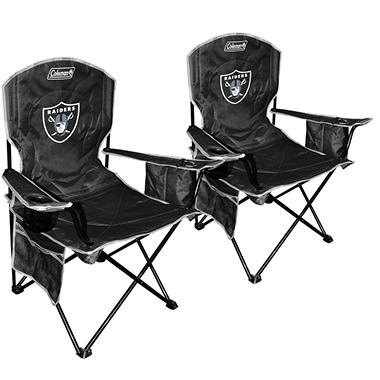 NFL Oakland Raiders Cooler Quad Chair 2 Pack