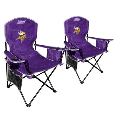 NFL Minnesota Vikings Cooler Quad Chair 2 Pack