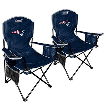 NFL New England Patriots Cooler Quad Chair 2-Pack