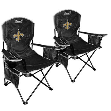 NFL New Orleans Saints Cooler Quad Chair 2-Pack