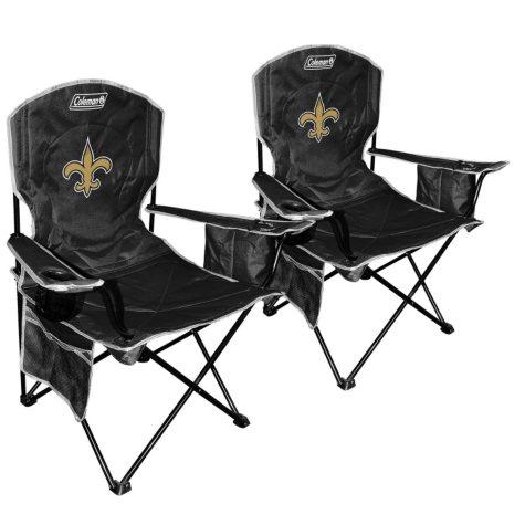NFL New Orleans Saints Cooler Quad Chair 2-Pack