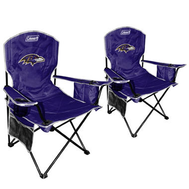 NFL Baltimore Ravens Cooler Quad Chair 2 Pack