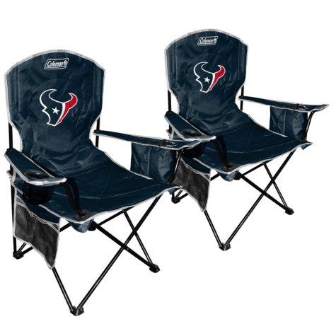NFL Houston Texans Cooler Quad Chair 2-Pack