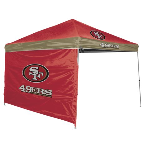 NFL San Francisco 49Ers Canopy 9 x 9 with Wall