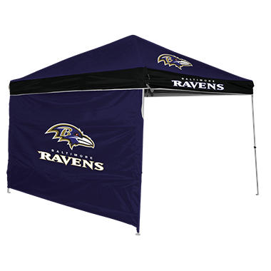 NFL Baltimore Ravens Canopy 9 x 9 with Wall