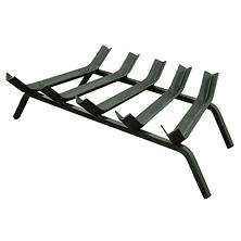 "23"" Wide Bar 1/2"" Steel V-Bar Fireplace Grate"