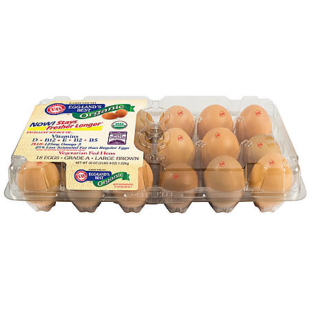 Eggland's Best Organic Large Grade A Eggs (18 ct.)