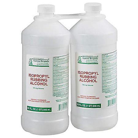 Aaron Brands® Isopropyl Rubbing Alcohol 2/32oz.