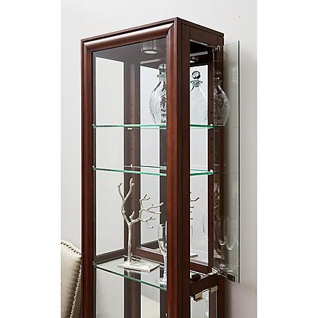 Village Springs Lighted Curio Cabinet - Modern Cherry