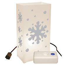 Electric Luminaria Kit with LumaBases - Snowflake - 10 ct.