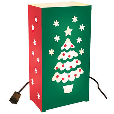10-Count Electric Luminaria Kit - Christmas Tree
