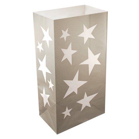 Luminaria Bags - Silver Stars (24 ct.)