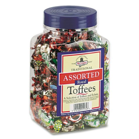 Assorted Flavored Toffee Candy - 2.75 lb. Tub