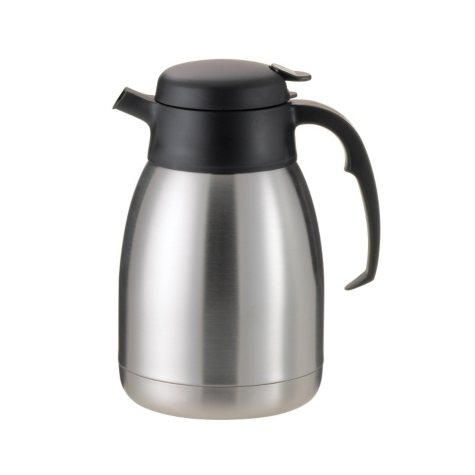 SteelVac Carafe, Brushed Stainless/Black Accents (1.5L)