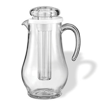 Pitcher with Ice Tube, Clear (1.9L)