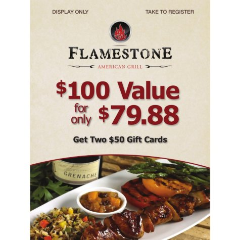 Flamestone American Grill  - 2 x $50