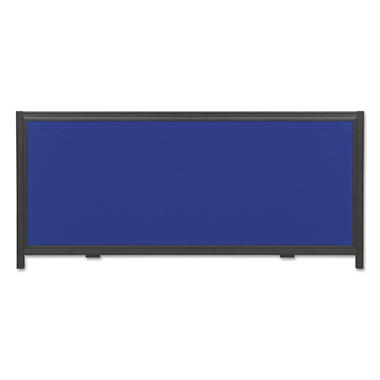 Quartet - Display System Optional Header Panel, Fabric, 24 x 10 -  Blue/Gray/Black PVC Frame