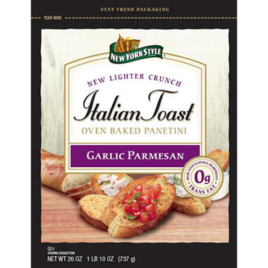 New York Style Italian Toast - Garlic Parmesan - 26 oz.