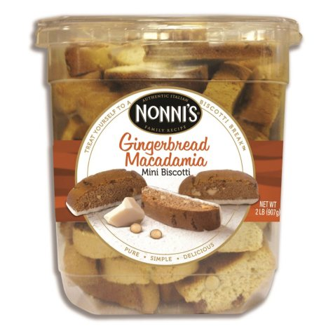 Nonni's Gingerbread Almond Mini Biscotti (2 lbs.)
