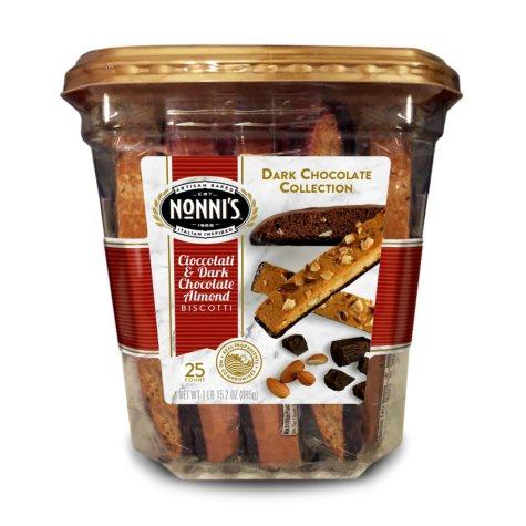 Nonni's Chocolate Collection Biscotti (25 ct.)