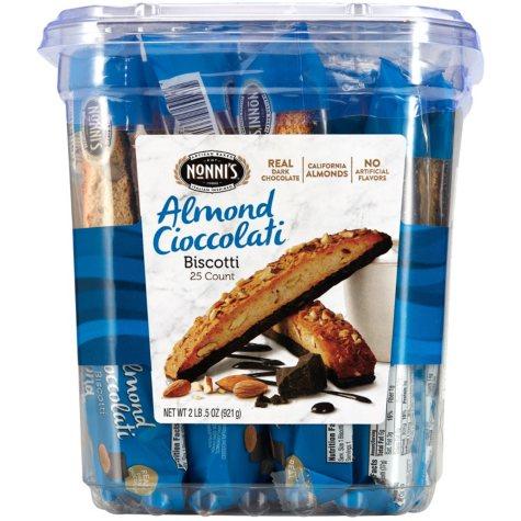Nonni's Almond Cioccolati Biscotti (25 ct.)