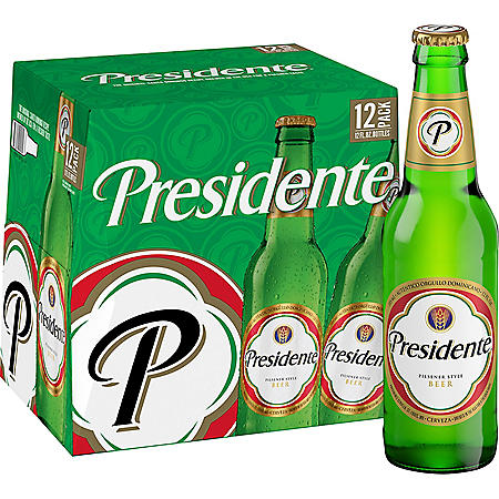 Presidente Pilsner Beer (12 fl. oz. bottle, 12 pk.)
