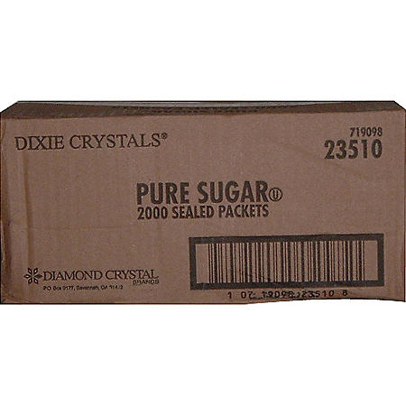 Dixie Crystals® Sugar Packets - 2000 ct.