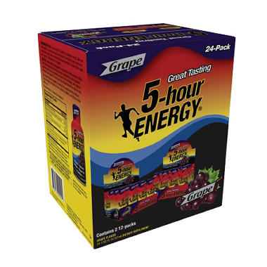 5-Hour Energy Shot, Grape (1.93 oz. ea., 24 pk.)