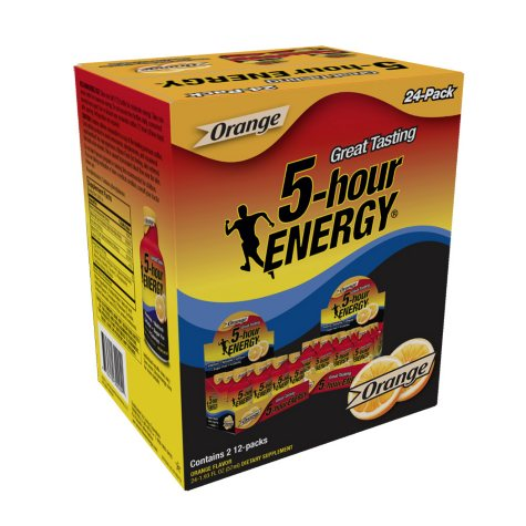 5-Hour Energy Shot, Orange (1.93 oz. ea., 24 pk.)
