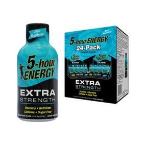 5-Hour Energy Shot, Extra Strength Blue Raspberry (1.93 oz. ea., 24 pk.)