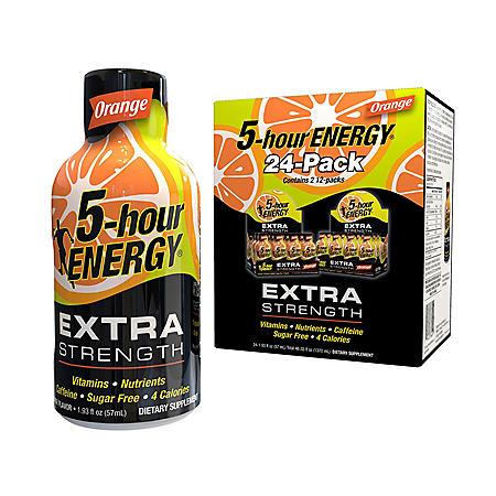 5-hour ENERGY Shot, Extra Strength, Orange (1.93 oz., 24 pk.)