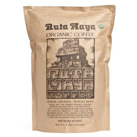 Ruta Maya Organic Medium Roast Coffee, Whole Bean (2.2 lbs)
