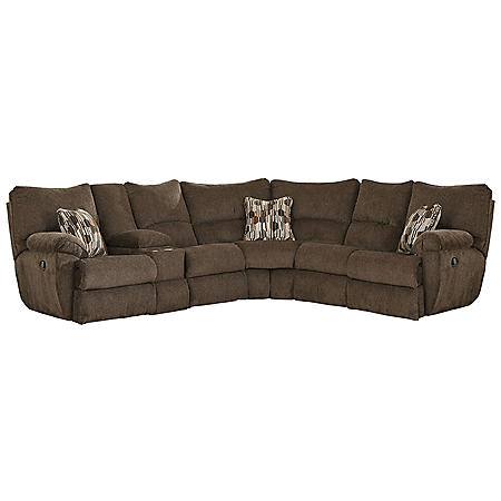 Elliot Sectional with 3 Lay Flat Reclining Seats (Assorted Colors)