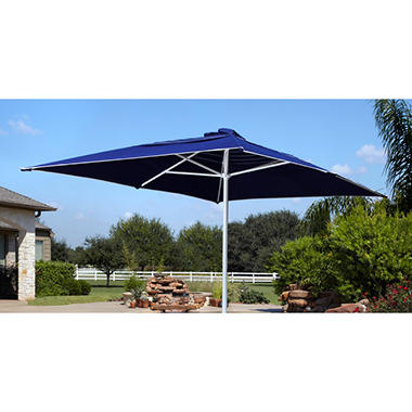 Spring Harbor 11' Rectangular Double Vent Outdoor Patio Market Umbrella